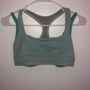 Turquoise lululemon sports bra
